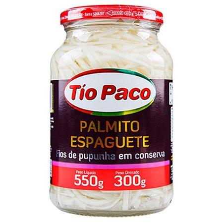 Palmito de pupunha espaguete tio paco 550g