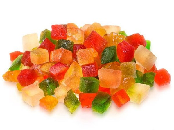 Frutas cristalizadas 100g