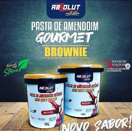 Pasta de amendoim com whey protein 500g sabor brownie