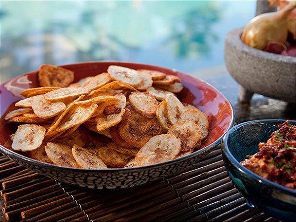 Chips de banana com páprica 100g