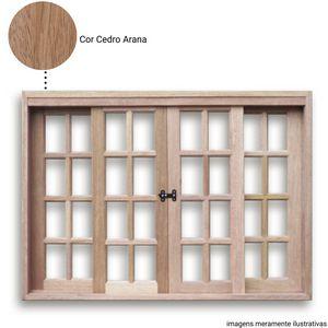 VITRÔ DE CORRER CEDRO ARANA 04 FOLHAS . 1,00 x 2,00 - CX 12 -( LINHA PREMIUM )