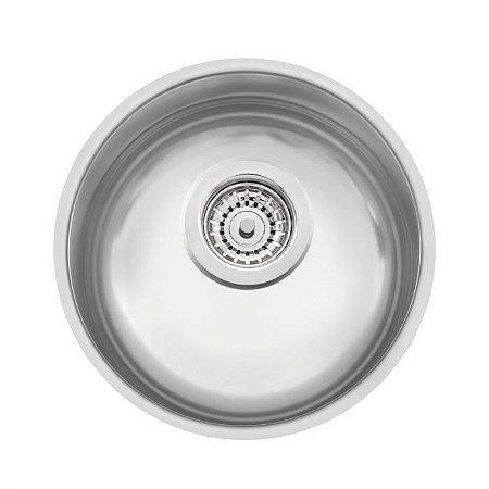 Cuba redonda de 30 cm. de embutir - Tramontina em aço inox acetinado - 94010/102