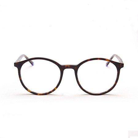 Armação para Óculos de Grau Feminino Acetato Oval Tartaruga
