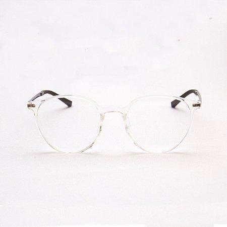 Armação para Óculos de Grau Feminino Acetato Transparente com Haste Acetato Tartaruga