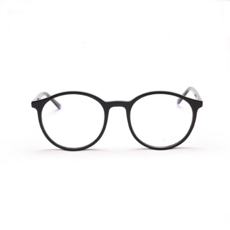 Armação para Óculos de Grau Feminino Acetato Oval Preto