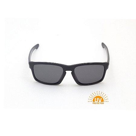 Óculos de Sol Retangular Ponte Fechadura Preto Verniz Lente Black Total Afrikan