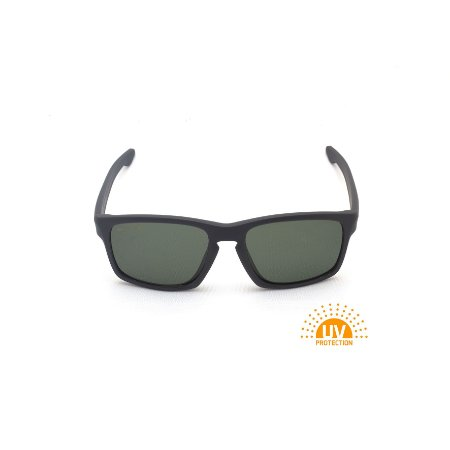 Óculos de Sol Retangular Ponte Fechadura Cinza Lente G15 Polarizada Afrikan