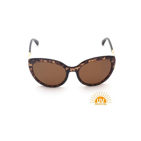 Óculos de Sol Marrom Estampado Lente Marrom Degradê Polarizada Afrikan