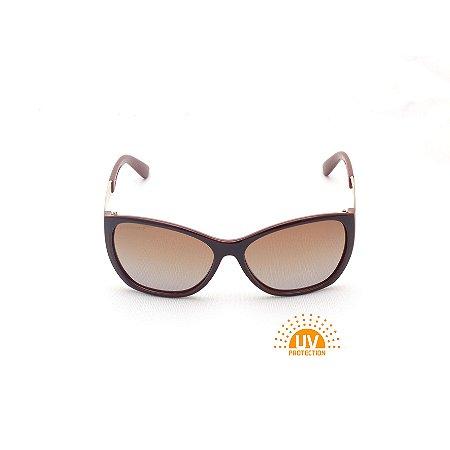 Óculos de Sol Marrom Lente Marrom Afrikan