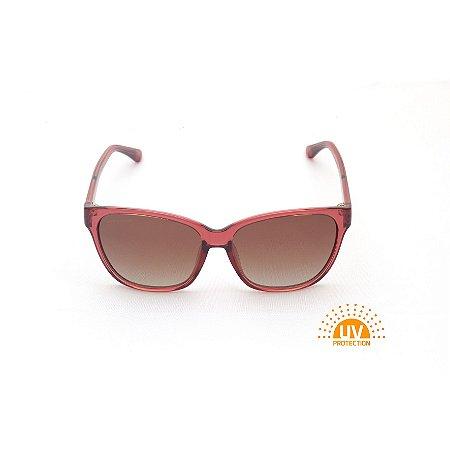Óculos de Sol Quadrado Acrílico Vermelho Cereja Afrikan
