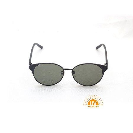 Óculos de Sol Gatinho Metal Preto Lente G15  Afrikan