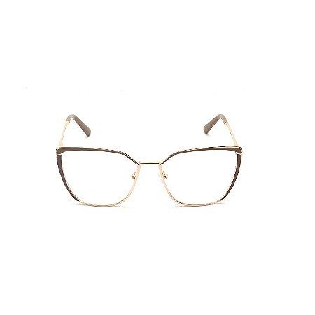 Armação para Óculos de Grau Quadrado Nude Afrikan