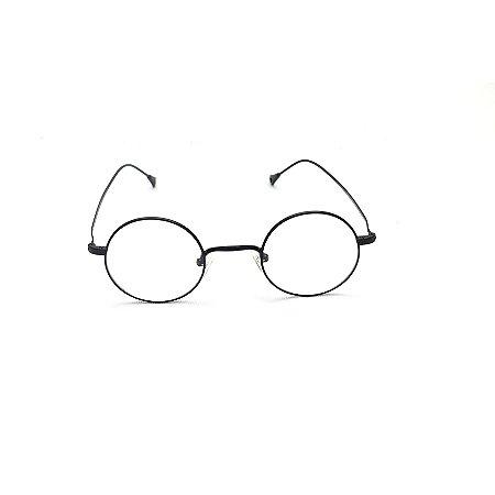 Armação para Óculos de Grau Redondo Metal Preto Pequeno Harry Potter