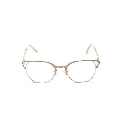 Armação para Óculos de Grau Feminino Rose e Dourado Afrikan