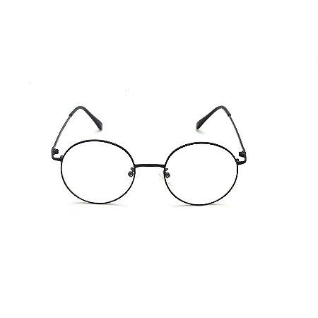 Armação para Óculos de Grau Redondo Preto Harry Potter