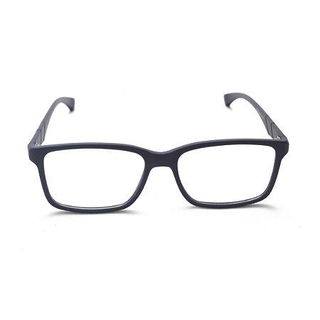 Armação para Óculos de Grau Retangular Acetato Azul Marinho