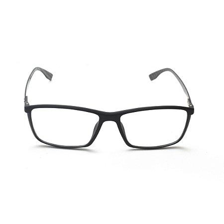 Armação para Óculos de Grau Retangular Titanium Preto Afrikan