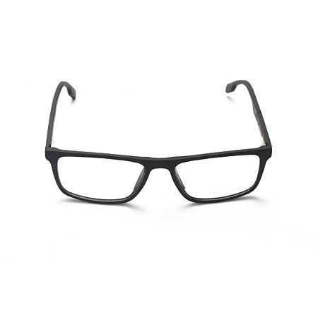 Armação para Óculos de Grau Masculino Retangular Preto Afrikan