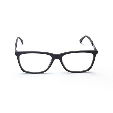 Armação para Óculos de Grau Masculino Retangular Acetato Azul Marinho