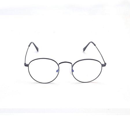 Armação para Óculos de Grau Redondo Preto Afrikan