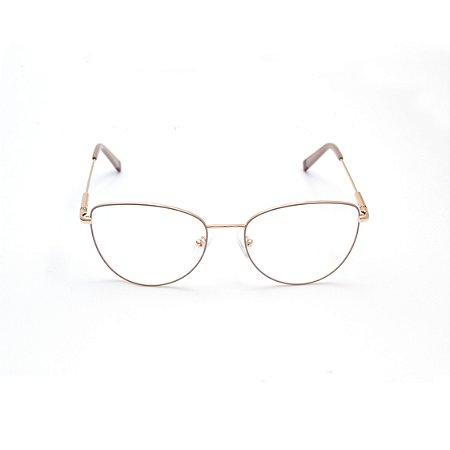 Armação para Óculos de Grau Gatinho Nude Estilo Valentino