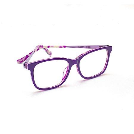 Armação para Óculos de Grau Retangular Lavanda Paola