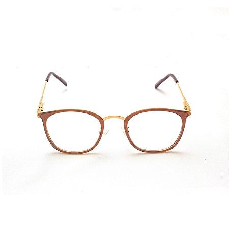 Armação para Óculos de Grau Feminino Acrílico Marrom Cleo