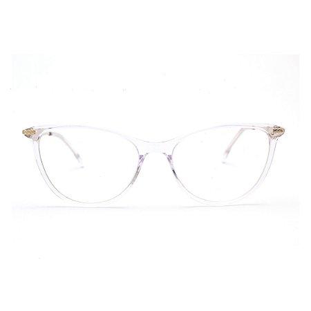 Armação para Óculos de Grau Feminino Acrílico Transparente