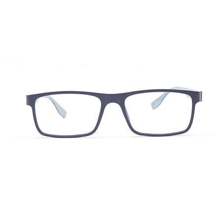 Armação para Óculos de Grau Masculino Titanium Azul Marinho