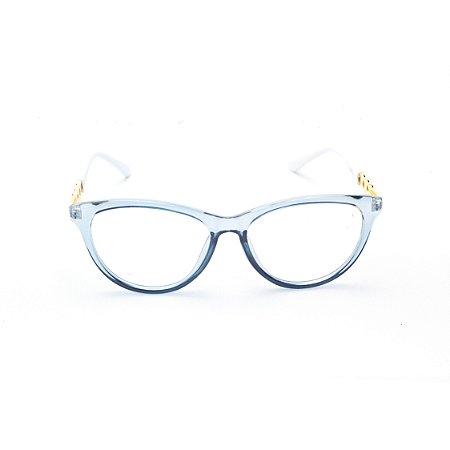 Armação para Óculos de Grau Gatinho em Acrílico Azul