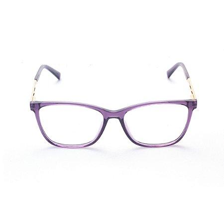 Armação para Óculos de Grau Retangular Acrílico Transparente