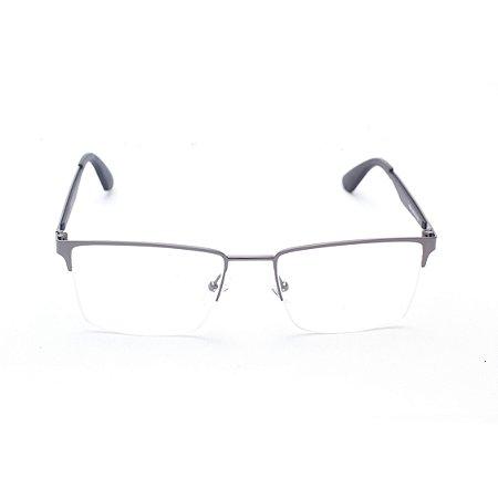 Armação para Óculos de Grau Masculino Quadrado Grafite