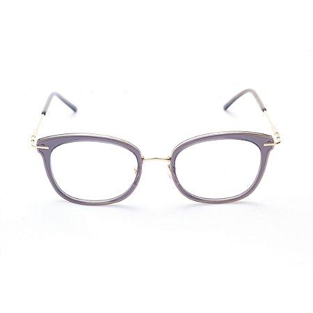 Armação para Óculos de Grau Feminino Ovalado Gatinho
