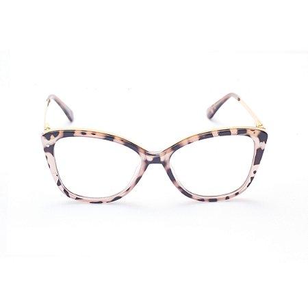 Armação para Óculos de Grau Feminino Acetato Gatinho em Tartaruga Rose
