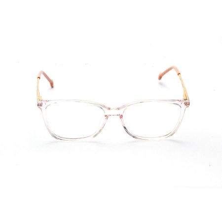 Armação para Óculos de Grau Feminino Acetato Retangular Transparente Nude