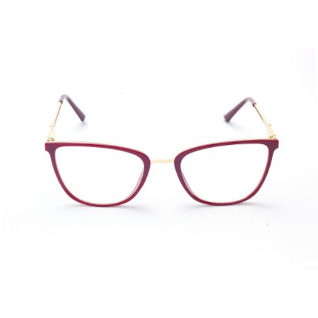 Armação para Óculos de Grau Feminino Gatinho Vermelho Carmin