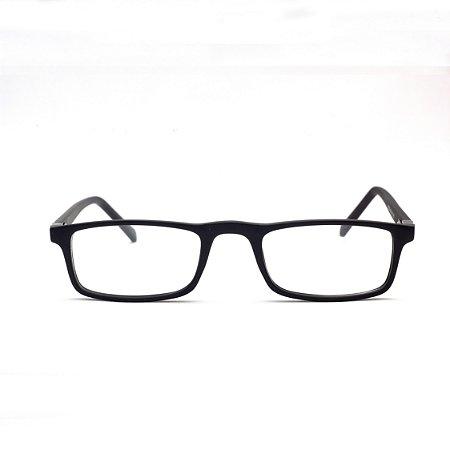Armação para Óculos de Leitura Preto Fosco Acetato