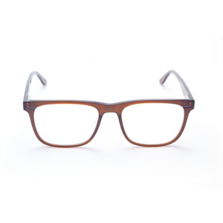 Armação para Óculos de Grau Masculino Acetato Quadrado Marrom