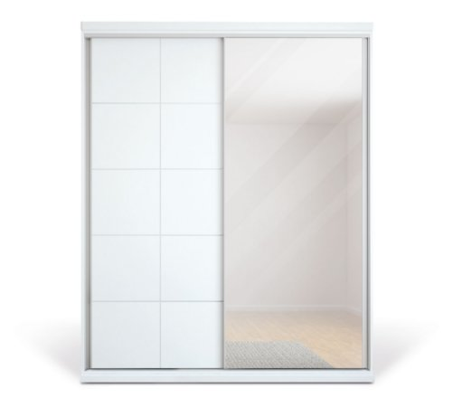 Roupeiro Solis com 2  Portas Deslizante com Espelho 1,46 mts