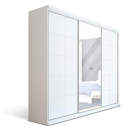Roupeiro Solis com 3 Portas Deslizante com Espelho 2,19 mts