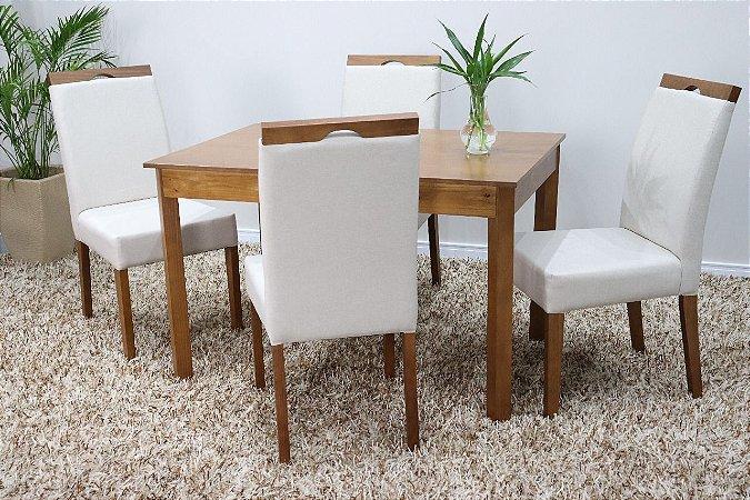 Conjunto Violeta c/ quatro cadeiras
