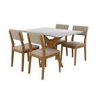 Mesa turm  sd03-pelin 1,20x0,90 com 4 cadeiras turm
