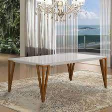 Mesa de jantar sd03- asi bru retangular ( design super moderno)