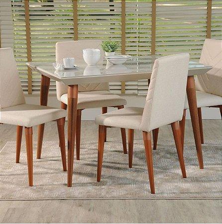 Cjt mesa sd03- lv + 4 cadeira lv prv