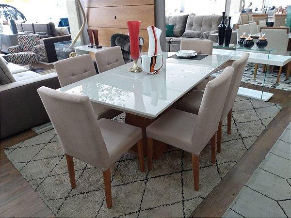 Cjt de jantar sd03-  Ibiza - mesa + 6 cad