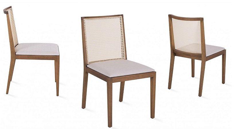 Cadeira de jantar com Encosto em Palha