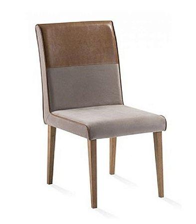 Cadeira de jantar com Detalhe em Corino