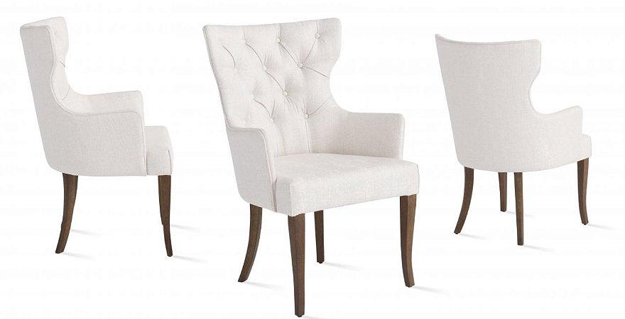 Cadeira sd04- atis c/ braço e botone jho ( unid)