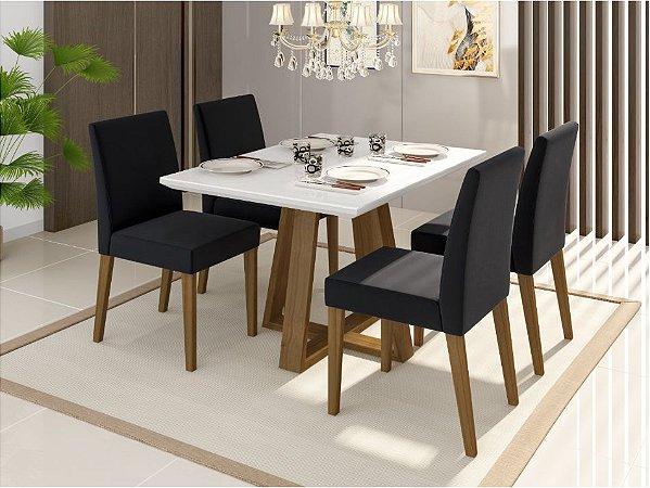 Conjunto de jantar sd03 com 4 cadeiras
