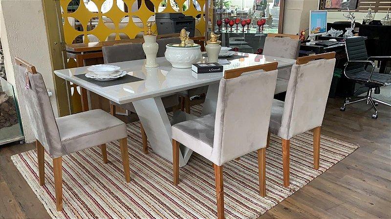 Conjunto de Jantar Jamil  com 6 Cadeiras